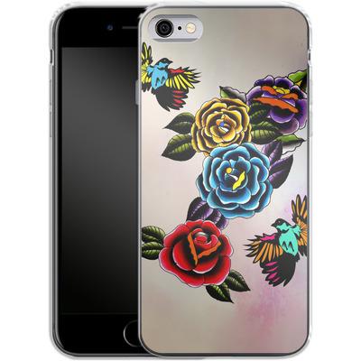 Apple iPhone 6s Silikon Handyhuelle - Tattoo Roses von Mark Ashkenazi