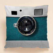 1pc Camera Design Cushion Cover Without Filler