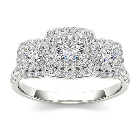 1 CT. T.W. Diamond 10K White Gold Engagement Ring, 7 1/2 , No Color Family