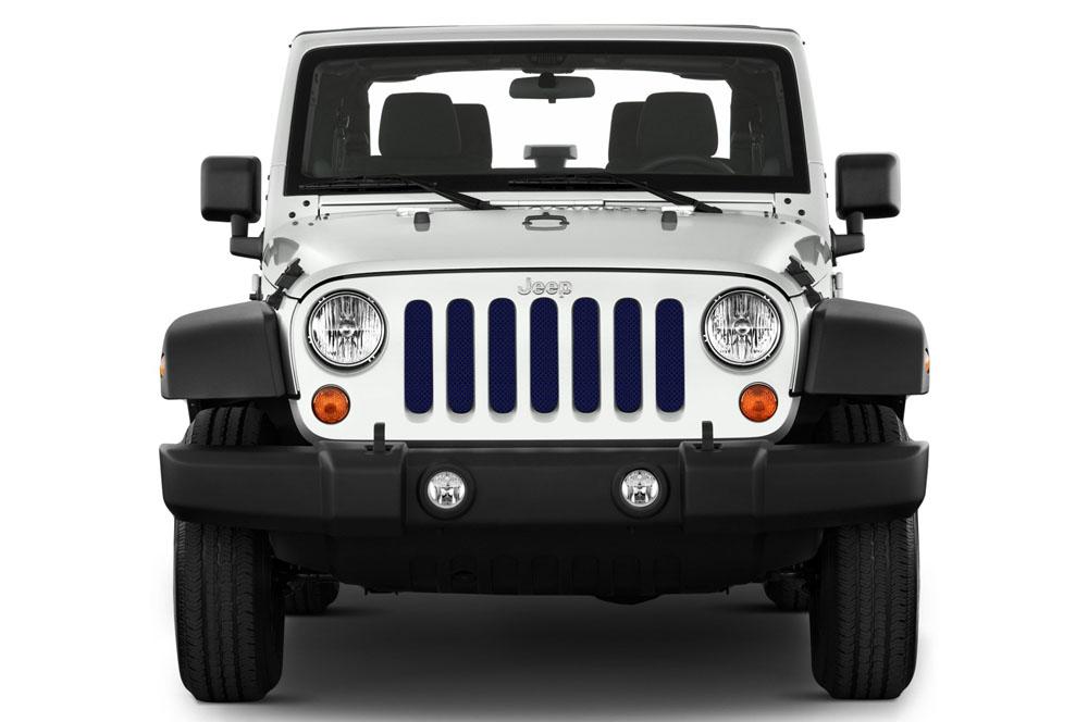 Jeep Gladiator Grill Inserts 2020-Present Gladiator True Blue Under The Sun Inserts INSRT-SLDTRUBLU-JT
