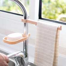 Waschbecken haengender Seifenhalter mit Handtuchhalter 1 Stueck