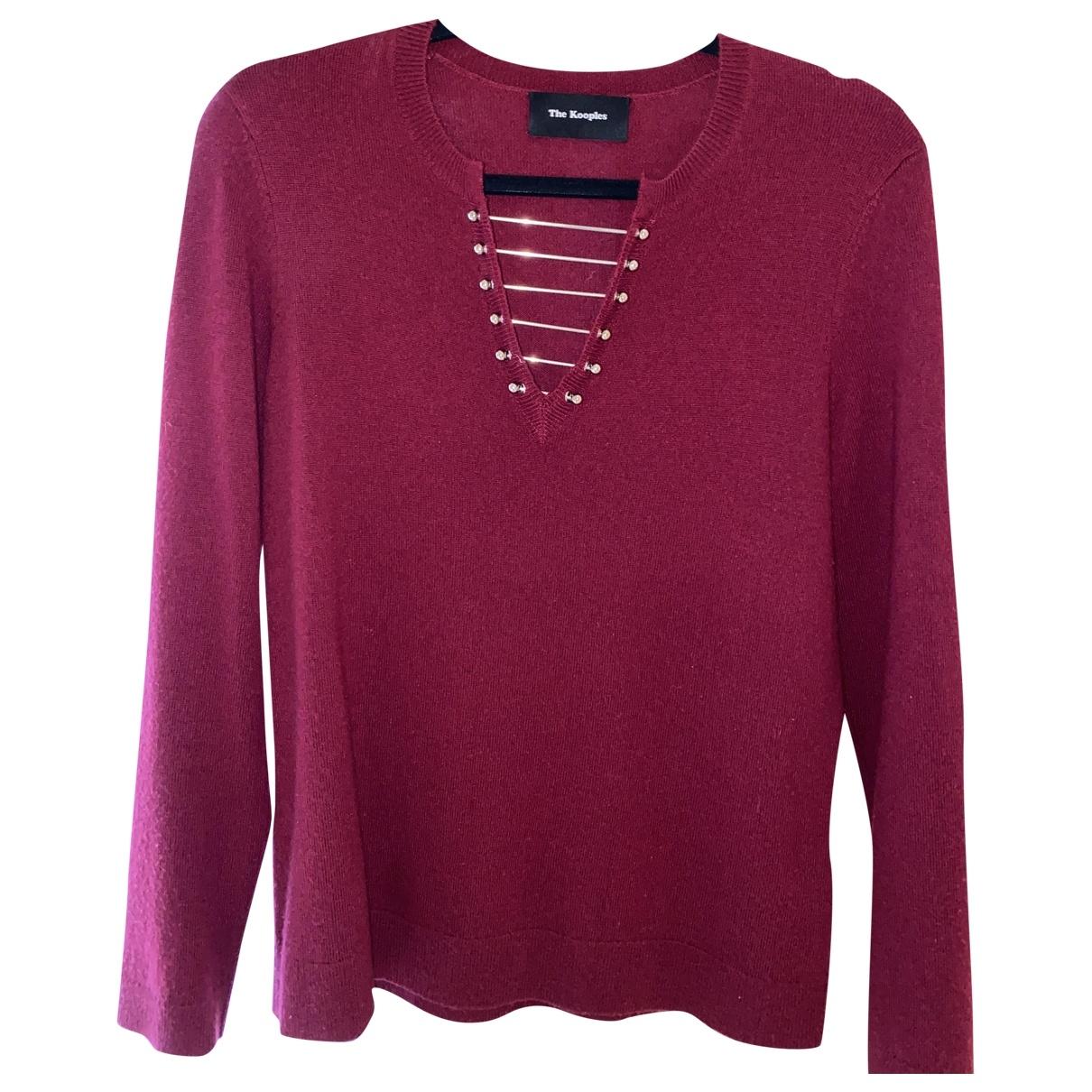 The Kooples - Pull   pour femme en laine - rouge