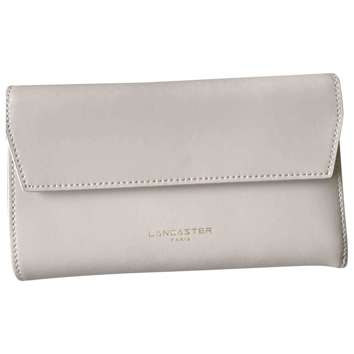 Lancaster - Portefeuille   pour femme en cuir - beige