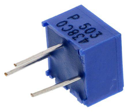 Bourns 50kΩ, Through Hole Trimmer Potentiometer 0.5W Top Adjust , 3362