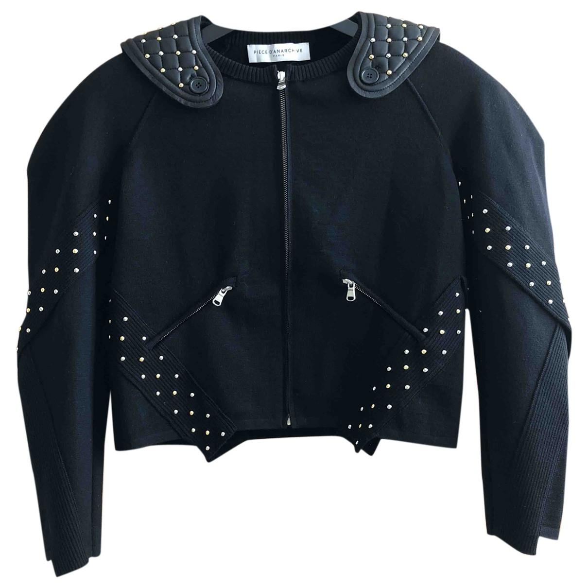 Piece Danarchive - Veste   pour femme en laine - noir