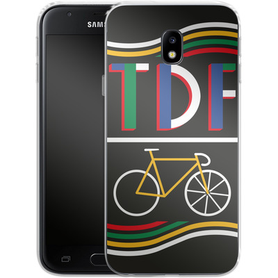 Samsung Galaxy J3 (2017) Silikon Handyhuelle - TDF Bike von Le Tour de France