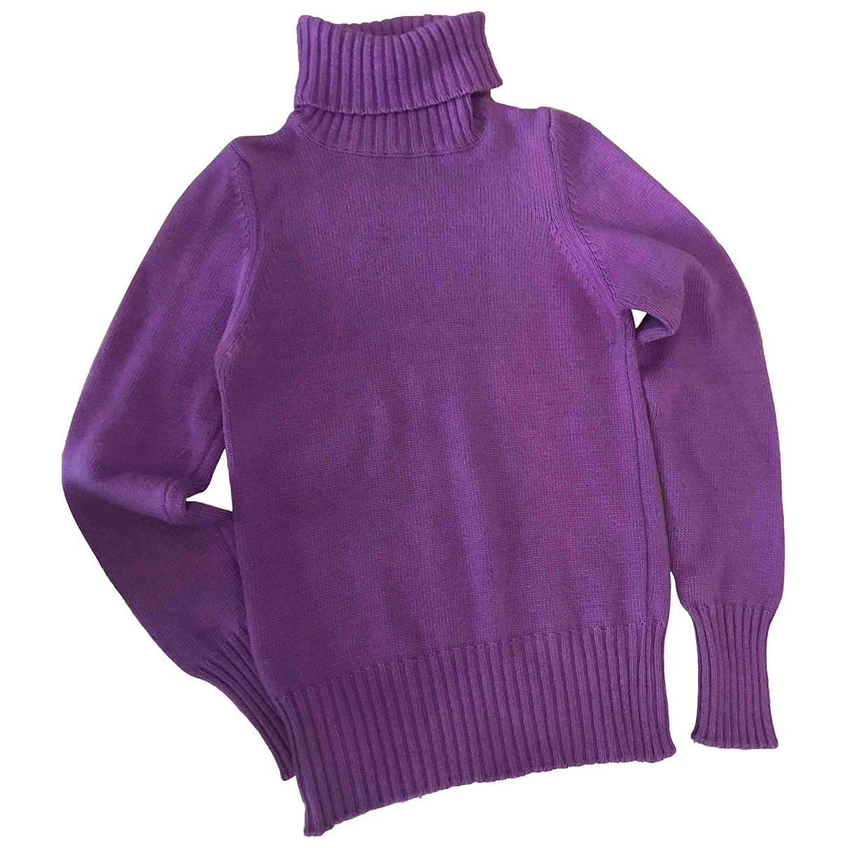- Pull   pour femme en cachemire - violet