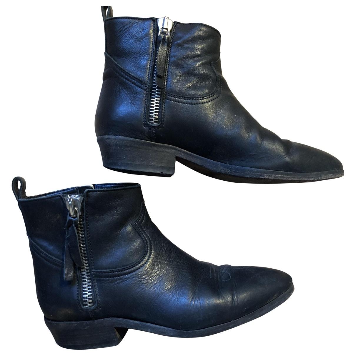 Golden Goose - Boots   pour femme en cuir - noir