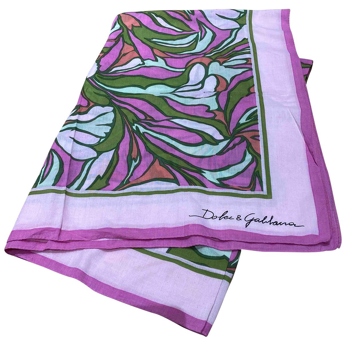 Dolce & Gabbana \N Badeanzug in  Rosa Baumwolle