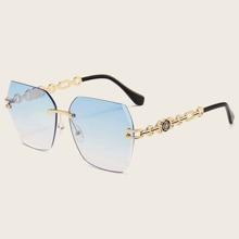 Tinted Lens Rimless Sunglasses