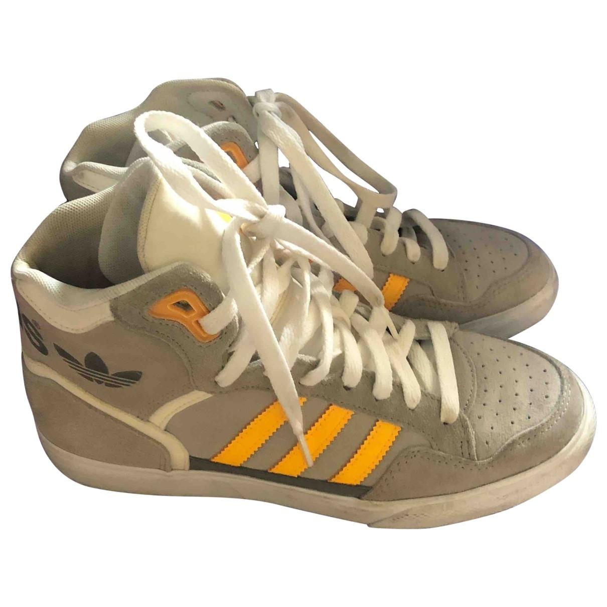 Adidas - Baskets   pour femme en suede - beige