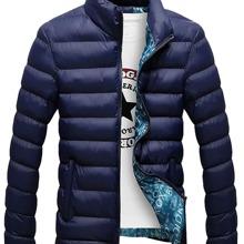Einfarbige Jacke mit Reissverschluss