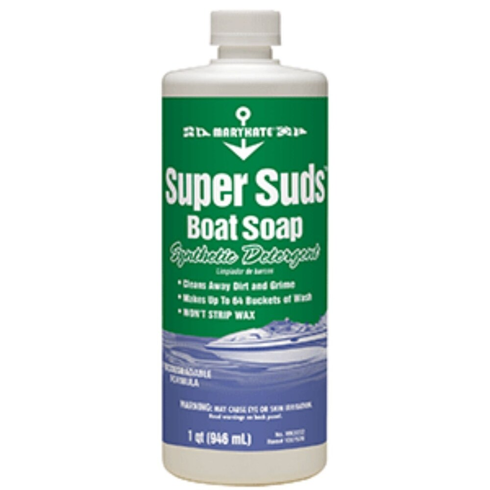 Club Pack of 12 Green and White Marine Super Suds Boat Soap 32oz. (Green)