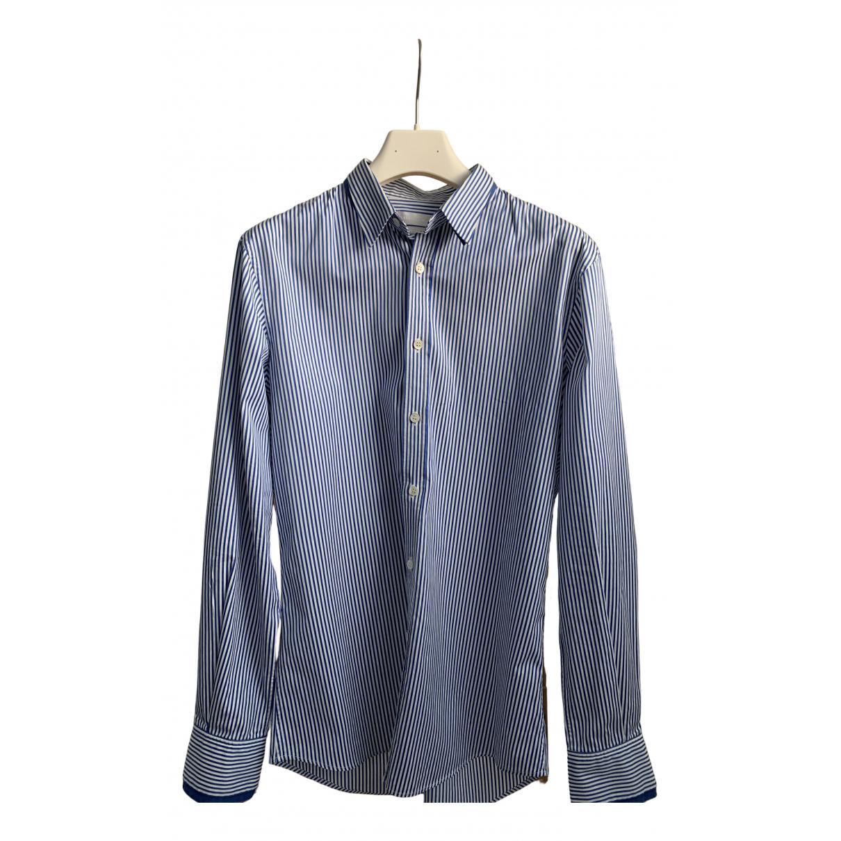 Alexander Mcqueen - Chemises   pour homme en coton - bleu