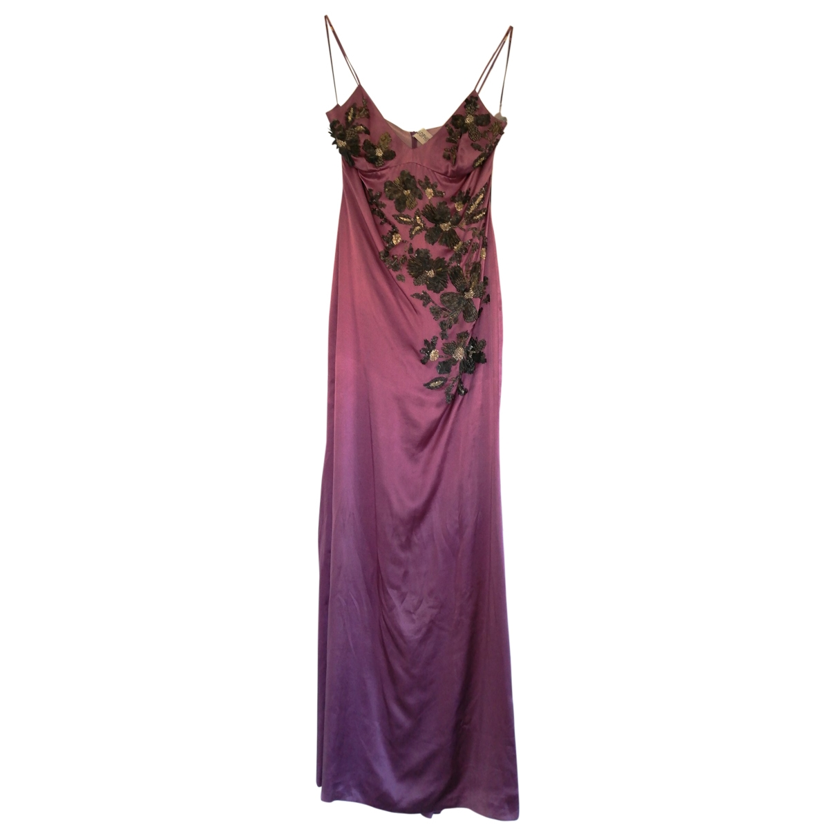 Non Signé / Unsigned \N Purple Silk dress for Women 8 US