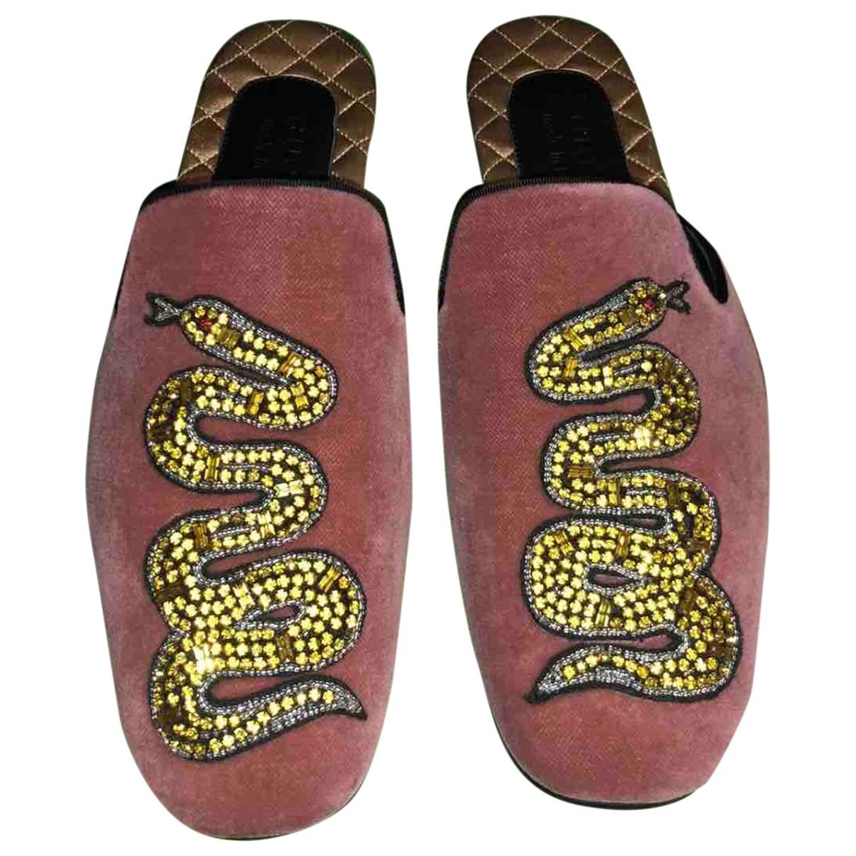 Mocasines de Terciopelo Gucci