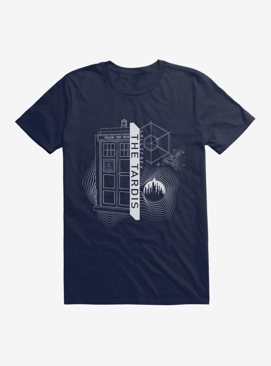 Doctor Who TARDIS Outline Specs T-Shirt
