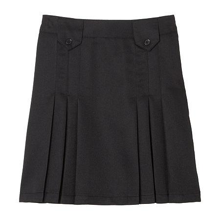 French Toast Little & Big Girls Pleated Skirt, 6 , Black