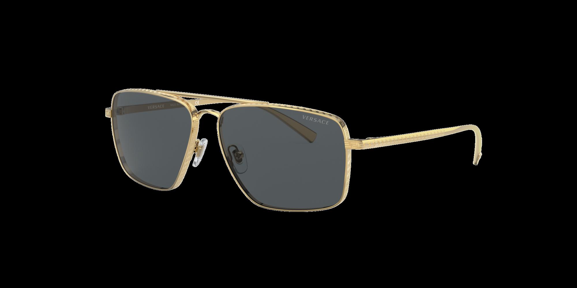 Versace Unisex  VE2216 -  Frame color: Oro, Lens color: Gris-Negro