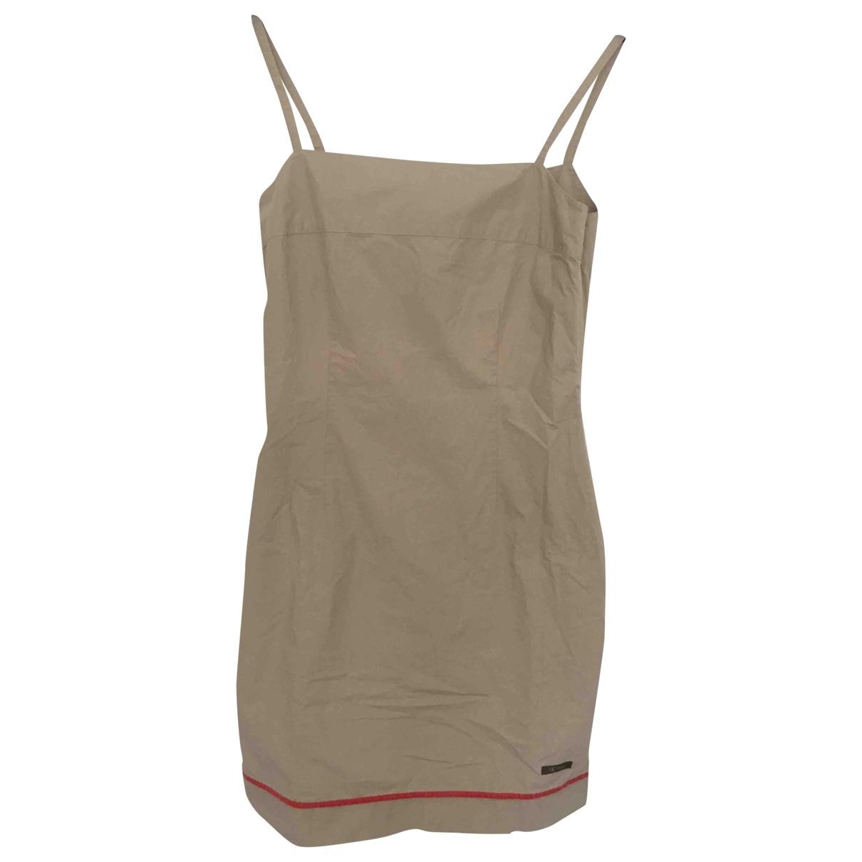 Calvin Klein - Robe   pour femme en coton - beige