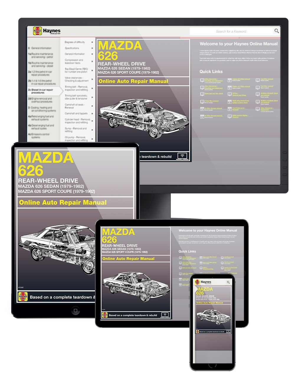 RWD Mazda 626 Sedan & Sport Coupe (79-82) Haynes Online Manual