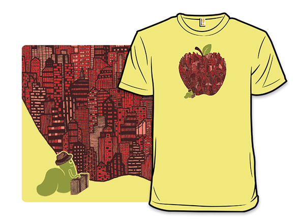 Little Worm Big Apple T Shirt
