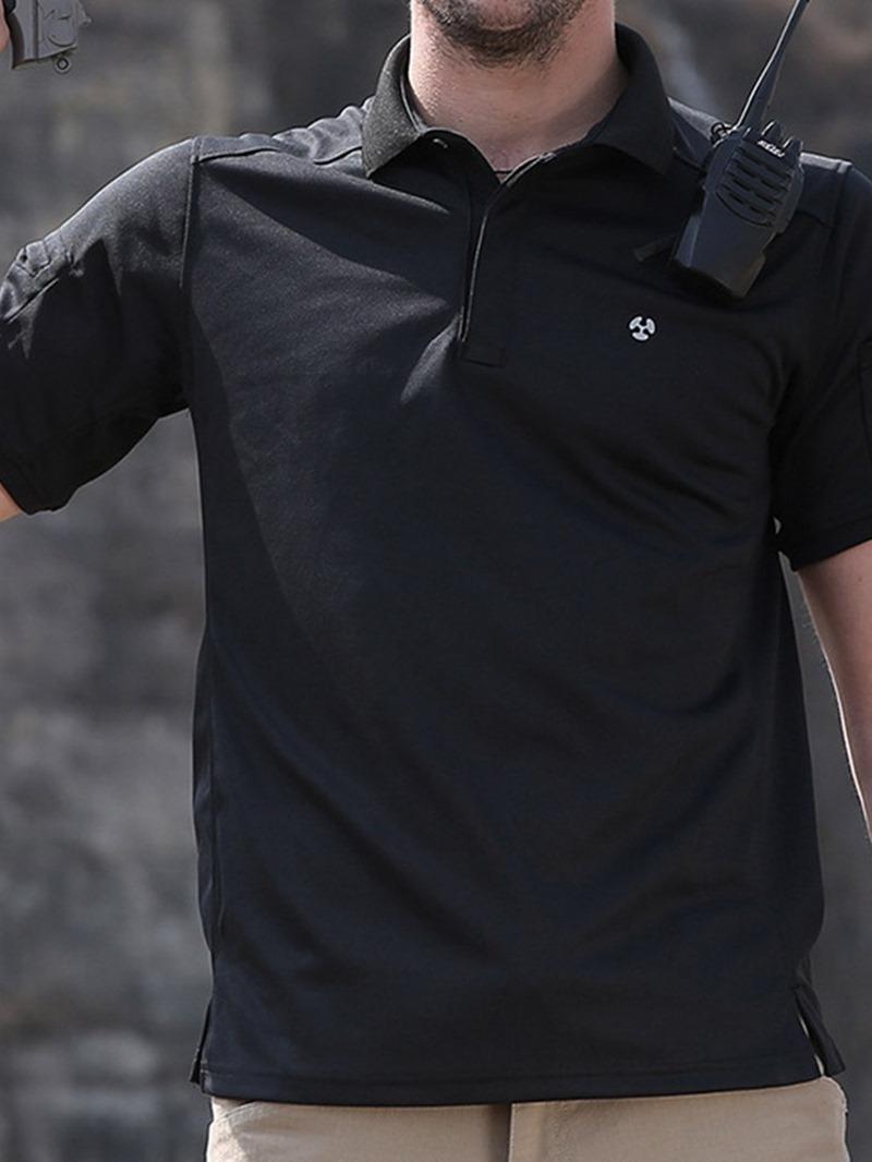 Ericdress European Lapel Plain Slim Short Sleeve T-shirt