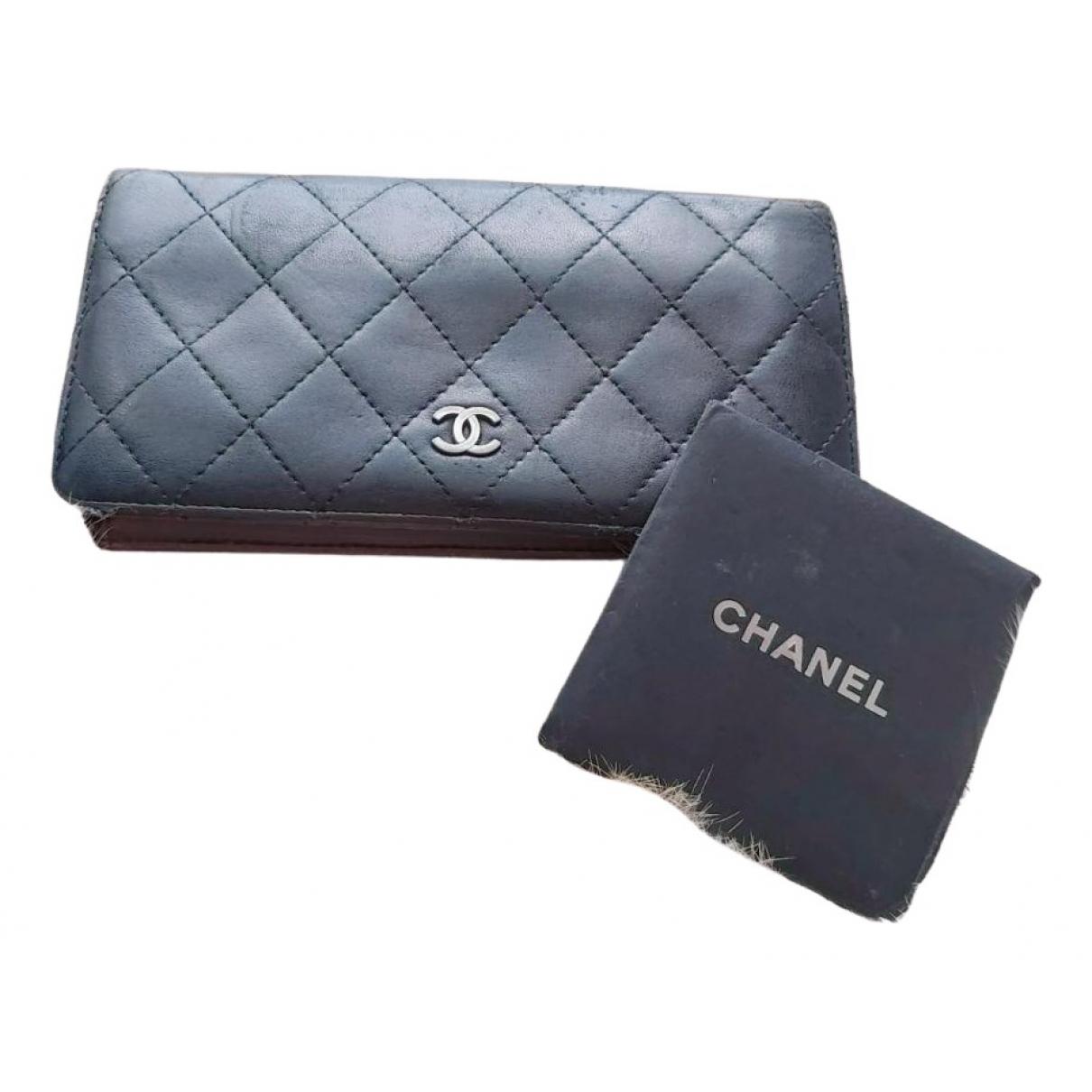 Chanel - Portefeuille Timeless/Classique pour femme en cuir - noir
