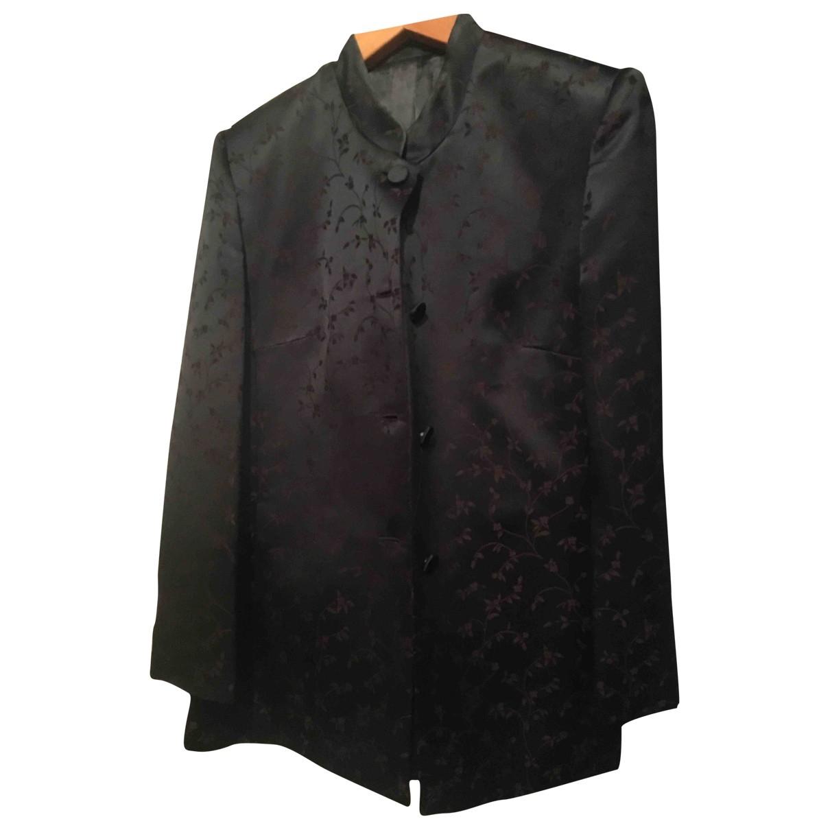 - Veste   pour femme en soie - noir