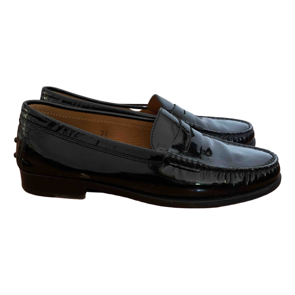 Tod's \N Black Patent leather Flats for Women 36 EU