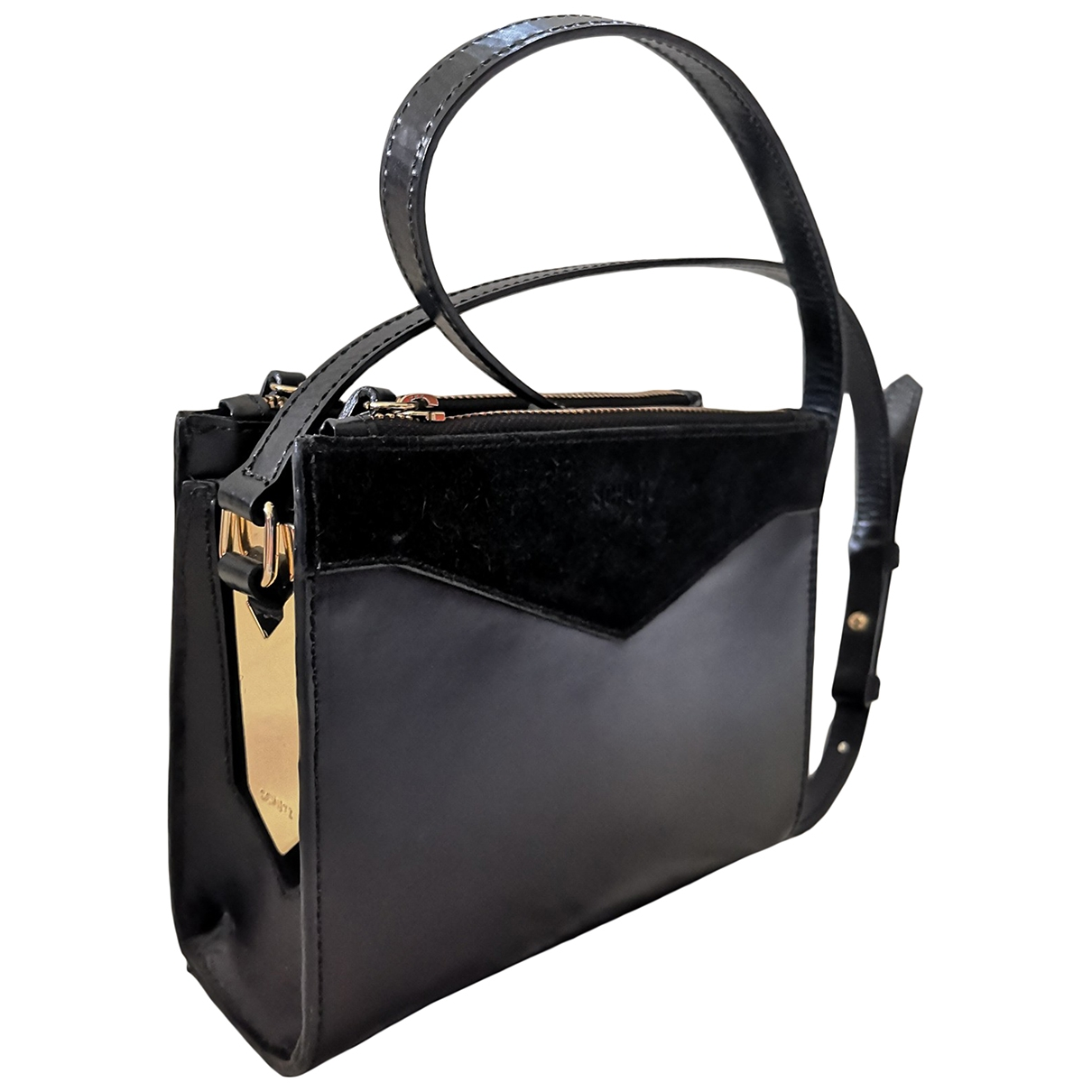 Schutz \N Black Leather handbag for Women \N