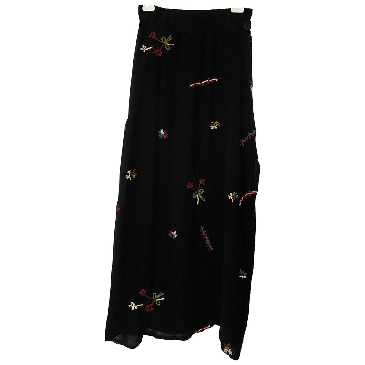 Falda midi de Seda Yohji Yamamoto
