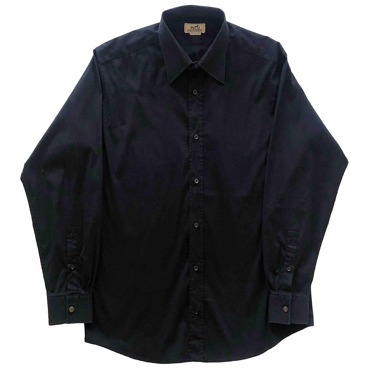 Hermès \N Black Cotton Shirts for Men 42 EU (tour de cou / collar)