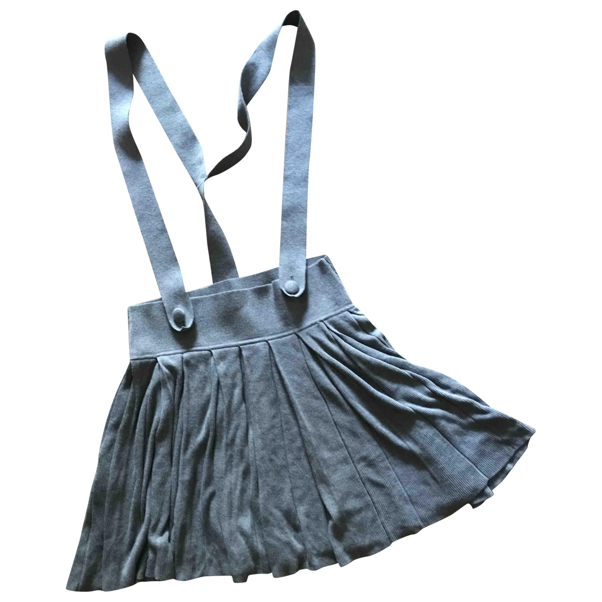 Comptoir Des Cotonniers \N Grey Cotton skirt for Women 36 FR