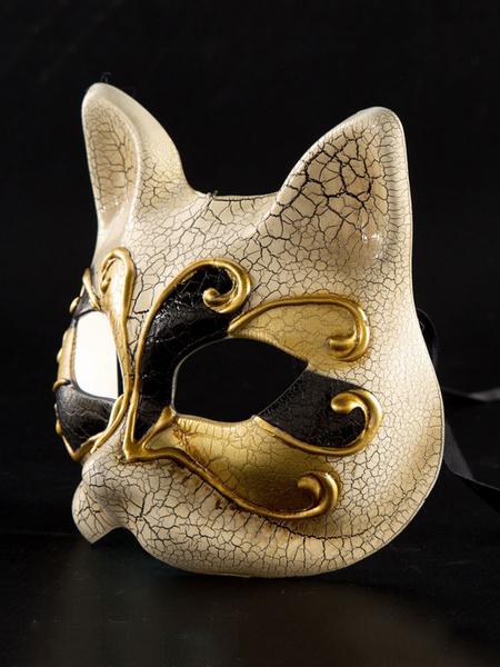 Milanoo Disfraz Halloween Mascara Disfraz de Halloween Mascara de zorro Dorado Accesorios de disfraces de disfraces Carnaval Halloween