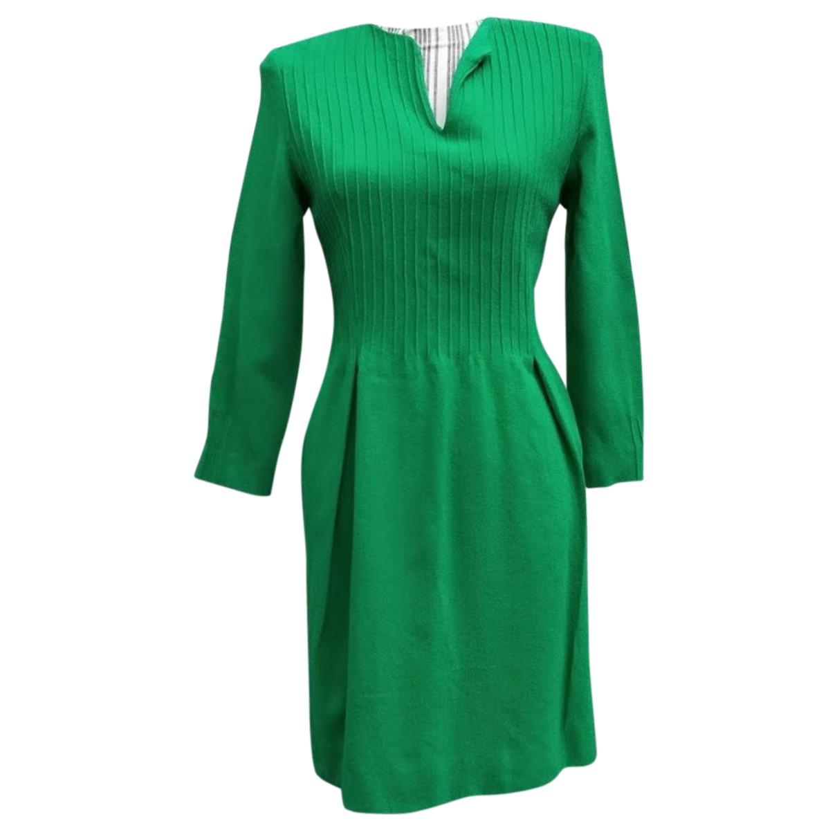 Autre Marque N Green Wool dress for Women 44 IT