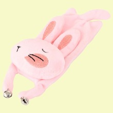 1pc Bell Detail Rabbit Shaped Cat Toy