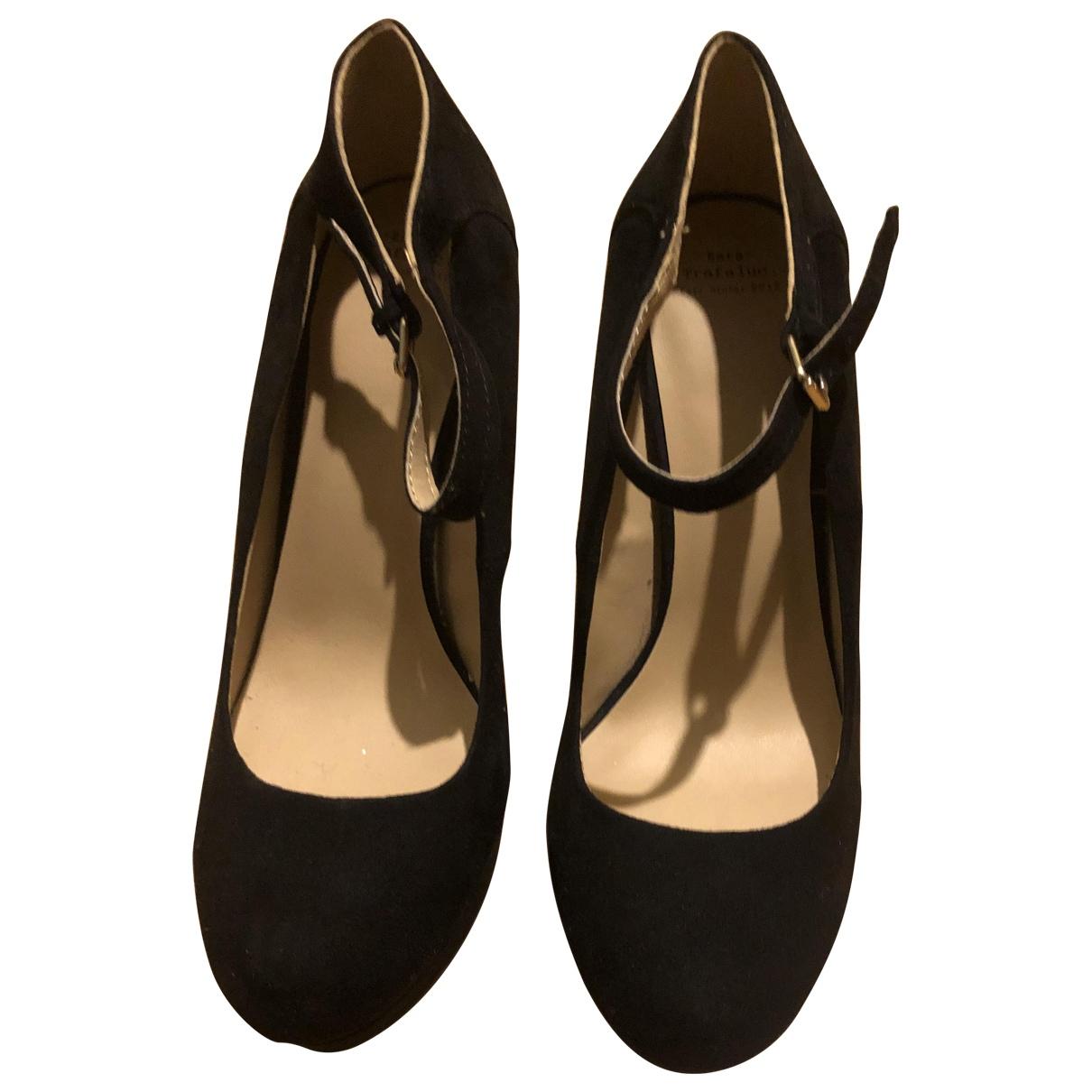 Zara N Black Suede Heels for Women 39 EU