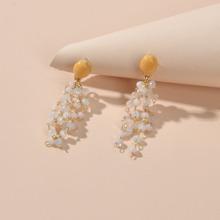 Bead Decor Drop Earrings