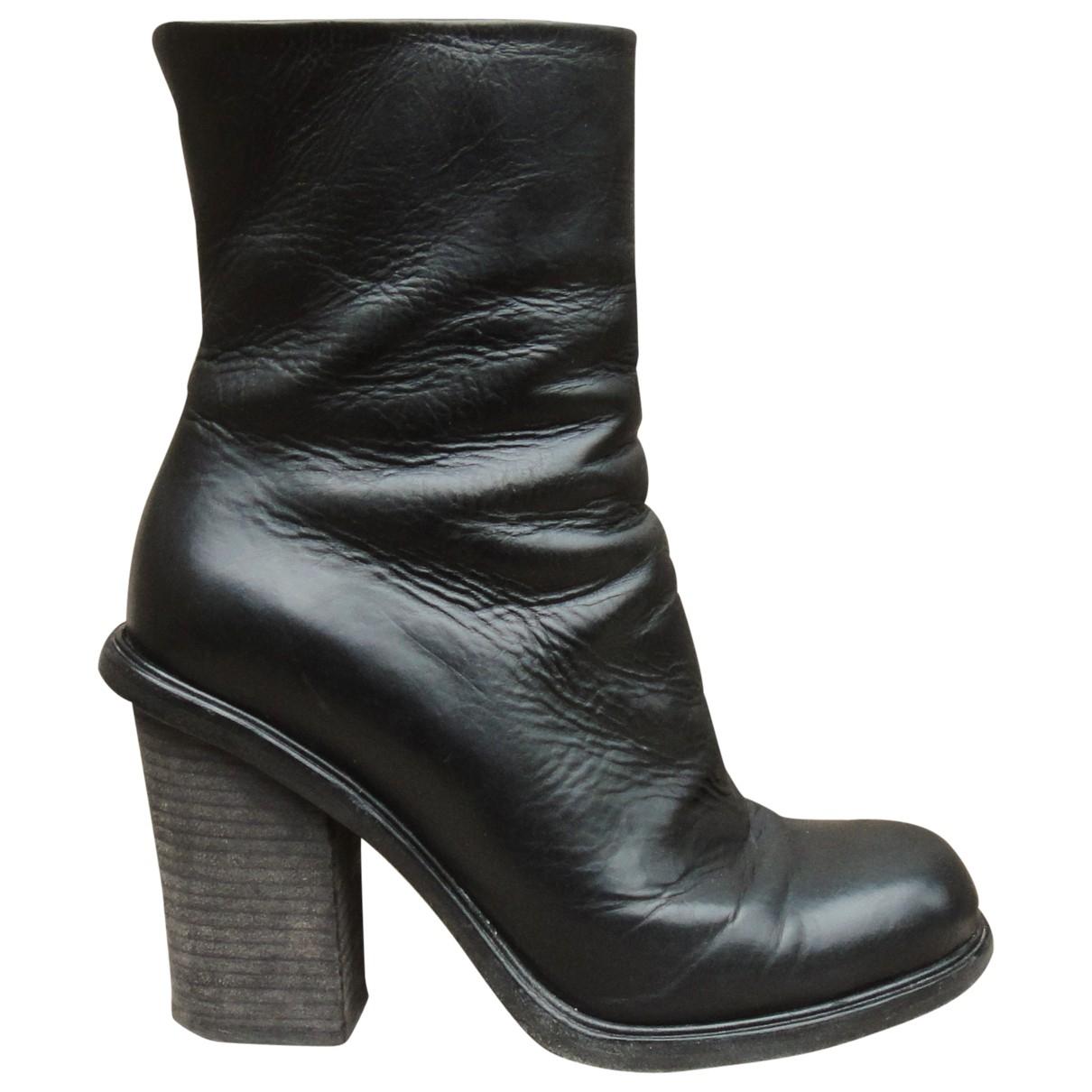 Premiata - Boots   pour femme en cuir - noir