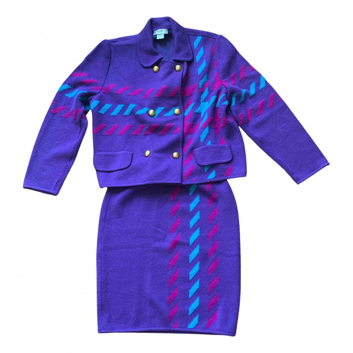 Celine - Veste   pour femme en laine - violet