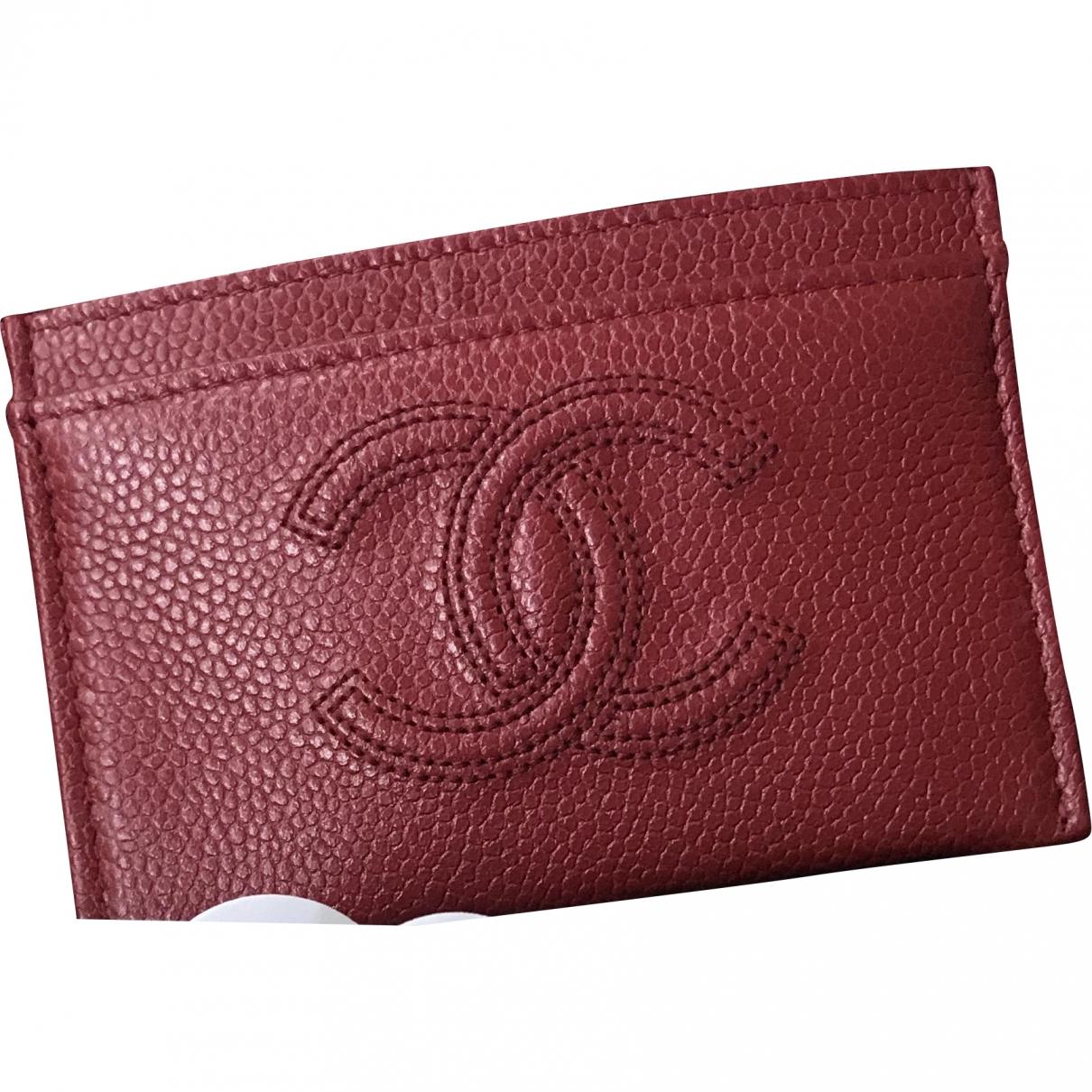 Chanel \N Kleinlederwaren in  Rot Leder