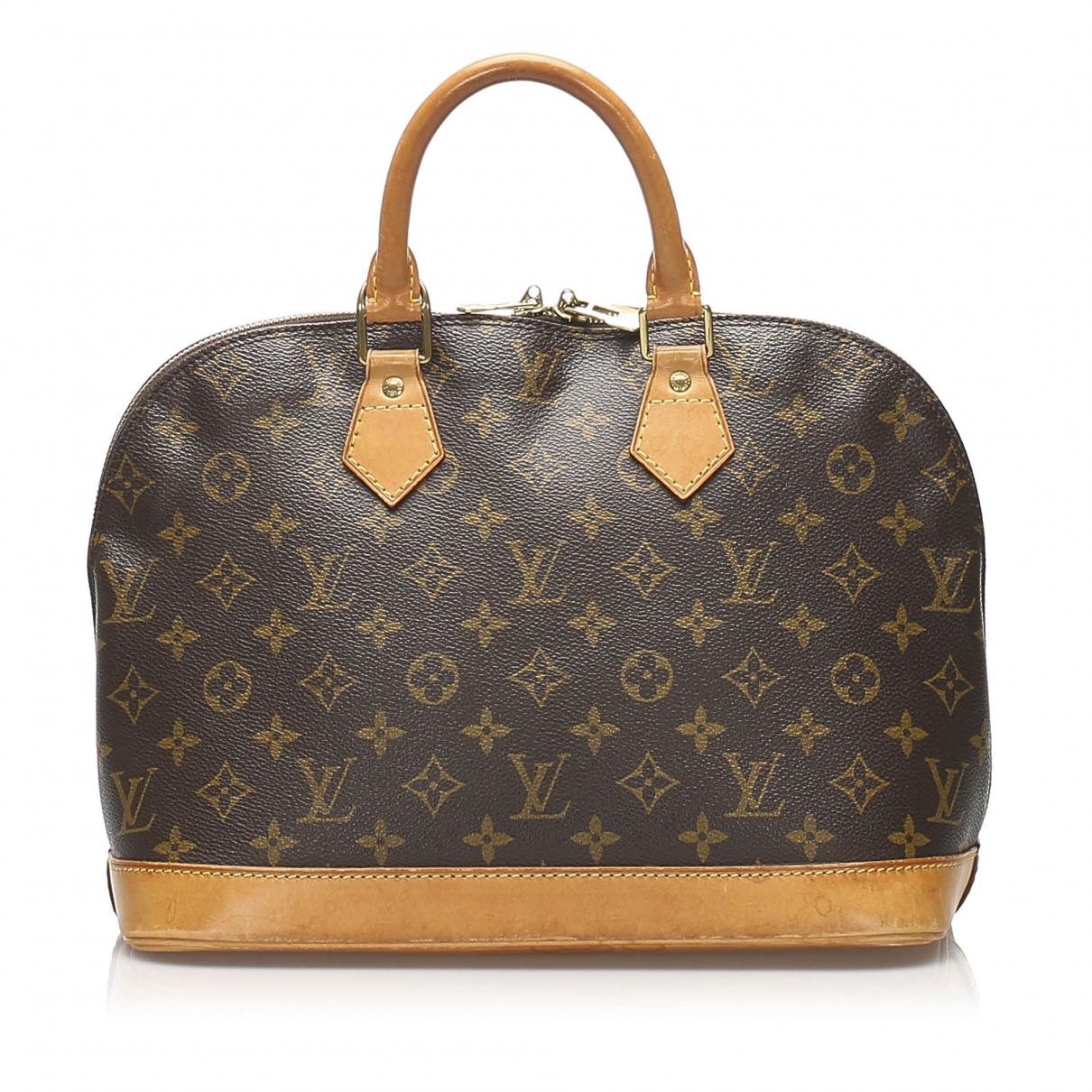 Louis Vuitton Alma Brown Cloth handbag for Women N