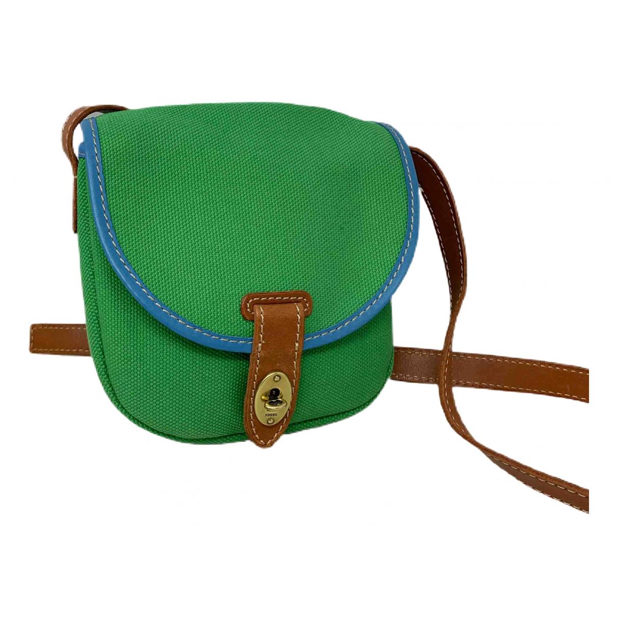 Fossil N Green Cloth handbag for Women N