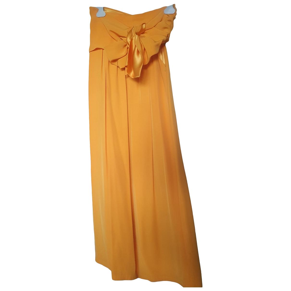 Yves Saint Laurent \N Orange Trousers for Women 38 FR