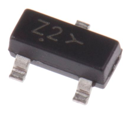 ON Semiconductor , 5.1V Zener Diode 6% 300 mW SMT 3-Pin SOT-23