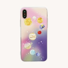 iPhone Huelle mit Planet Muster