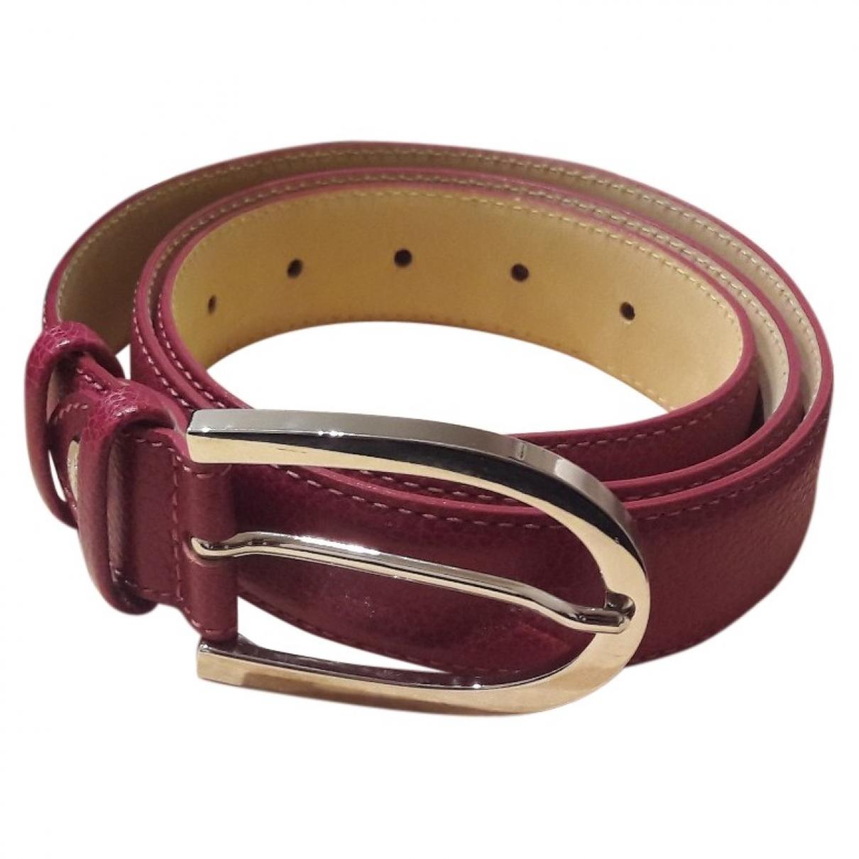 Longchamp \N Leather belt for Women 95 cm
