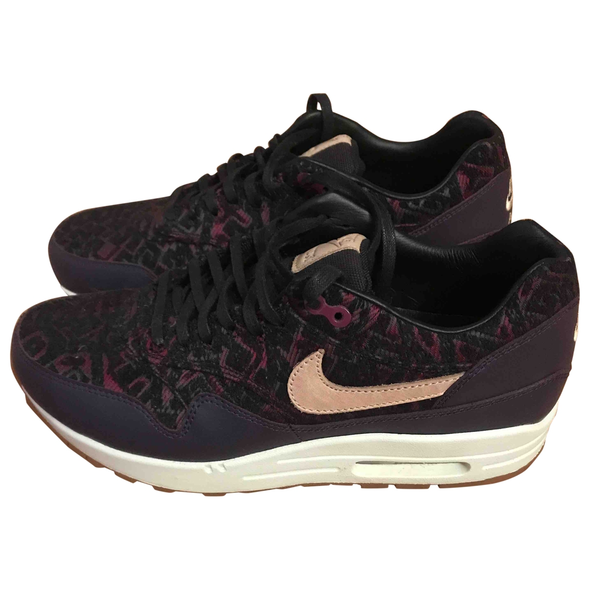 Nike Air Max 1 Purple Leather Trainers for Women 38 EU