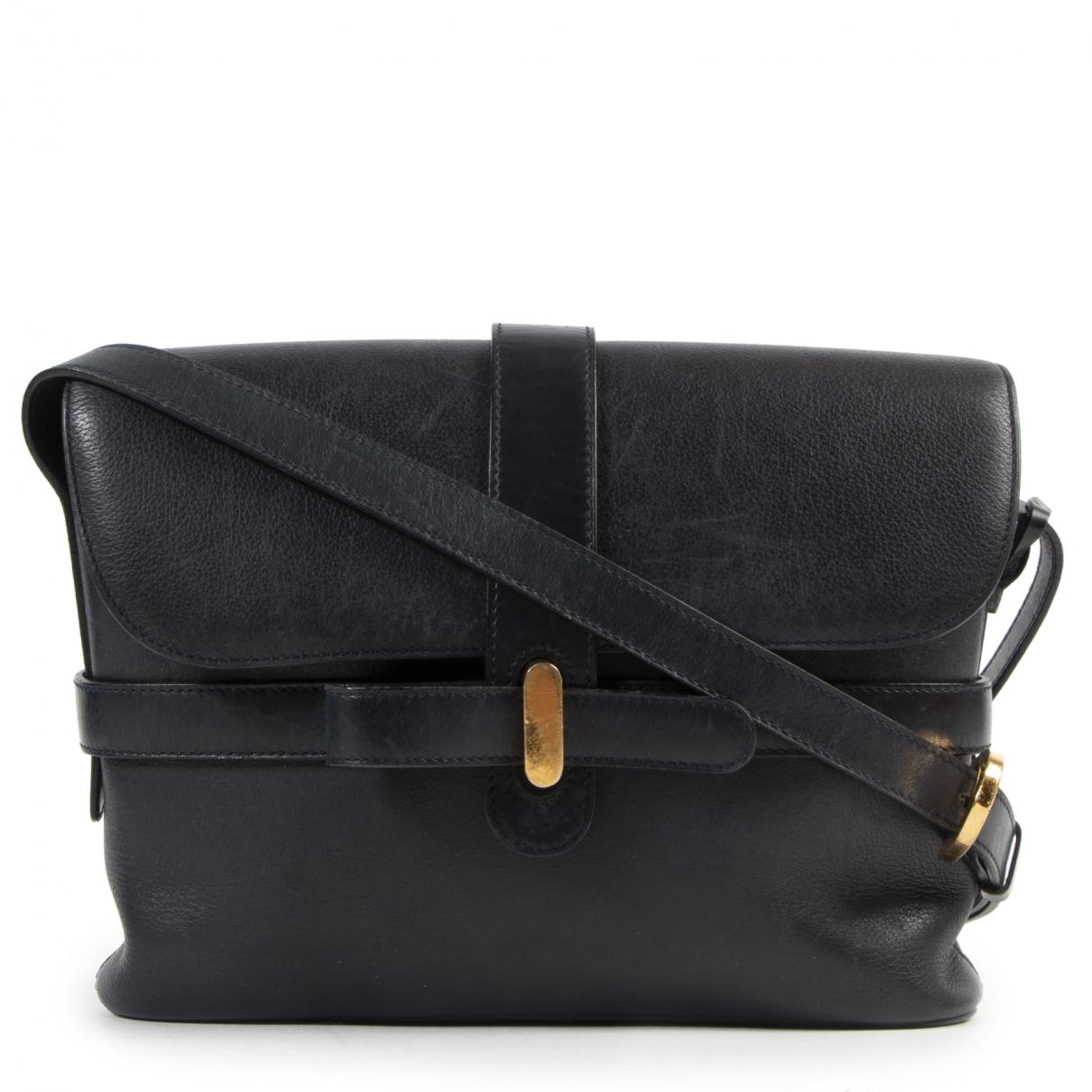 Delvaux \N Navy Leather handbag for Women \N